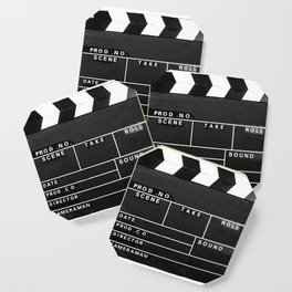 Film Movie Video production Clapper board Coaster
