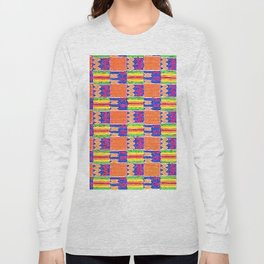 African Influence Textile Long Sleeve T-shirt