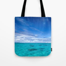 South Pacific Crystal Ocean Dreamscape with Boat Tote Bag