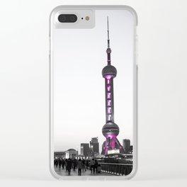 shanghai oriental tower Clear iPhone Case
