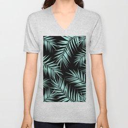 Palm Leaves Cali Finesse #4 #MintBlack #tropical #decor #art #society6 Unisex V-Neck