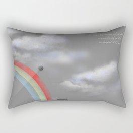 A quarter rainbow Rectangular Pillow