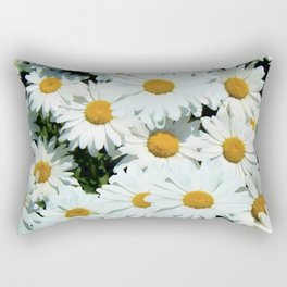 Daisies explode into flower Rectangular Pillow