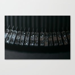 Rods old typewriter Canvas Print