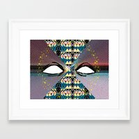 miles davis Framed Art Prints featuring Miles by Keith Cameron