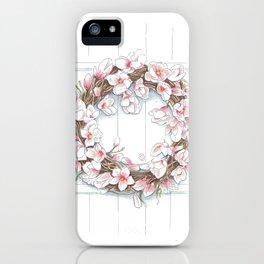 Spring Wreath iPhone Case