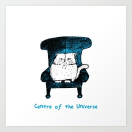 Centre of the Universe (Blue) Art Print