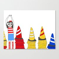 waldo Canvas Prints featuring Where's Waldo by Thatseelyah