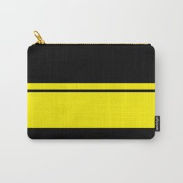 Yellow Racing Stripe Berlin Style Carry-All Pouch