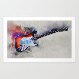 Electric Gitar Art Print