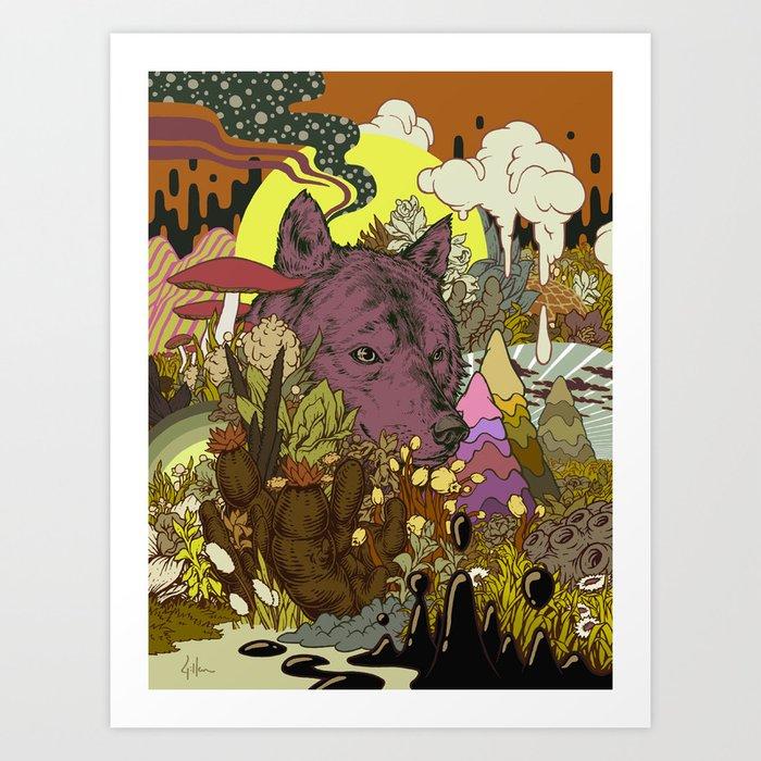 Zen Wolf Art Print