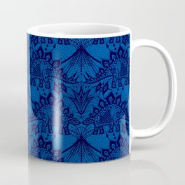 Stegosaurus Lace - Blue Coffee Mug
