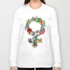 Feminist flower in color Long Sleeve T-shirt