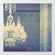 it's not meant to be. chandelier photograph Canvas Print