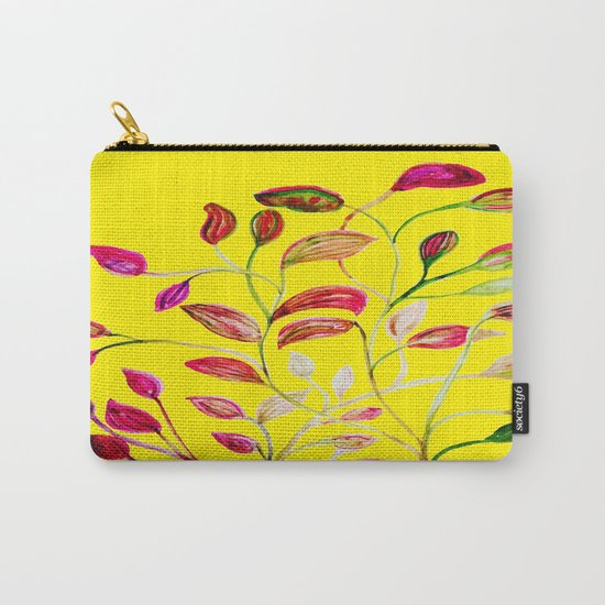 Red and Green Leaves! Yellow Sunshine! Carry-All Pouch