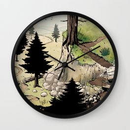 Just a Little Walk in the Woods - BASHers Wall Clock
