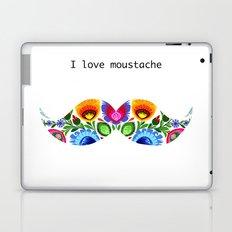 I love moustache - folk Laptop & iPad Skin