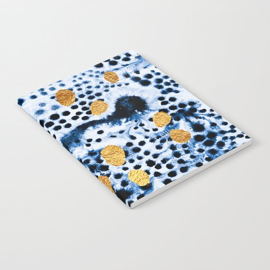 Pattern Play / Blue & Gold Notebook