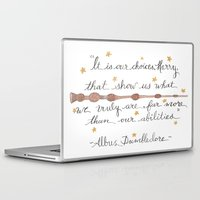 dumbledore Laptop & iPad Skins featuring Choices Dumbledore J.K. Rowling Quote by Hayley Lang