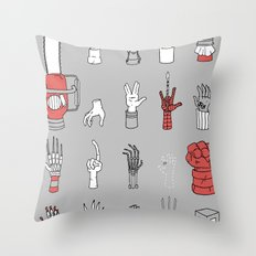Give Me A Hand Throw Pillow