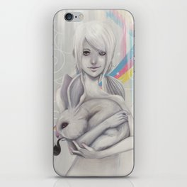 Girl and bunny iPhone Skin