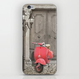 Nostalgia pink scooter iPhone Skin