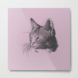 The Cat Sketch Metal Print