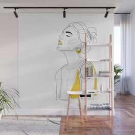 Yellow Lip Wall Mural