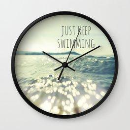 Just Keep Swimming... Wall Clock