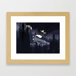 Over The Train Framed Art Print