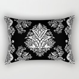 Victorian black and white floral Rectangular Pillow