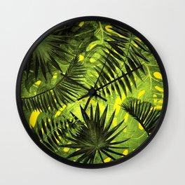 Tropical Leaves Aloha Jungle Garden Wall Clock