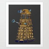 dalek Art Prints featuring Dalek  by Fernando Licon