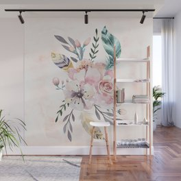 Forest Floral Pink by Nature Magick Wall Mural