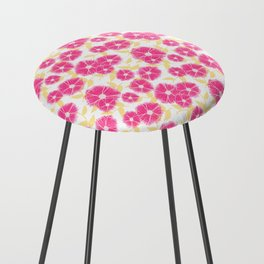 12 Sketched Mini Flowers Counter Stool
