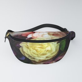 Shabby Chic Flowers Pattern Fanny Pack