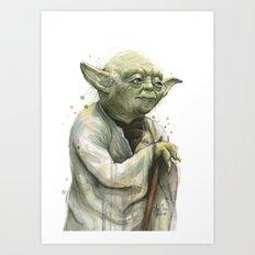 Yoda Jedi Portrait Sci-Fi Art Print