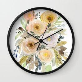 Floral 8 Wall Clock