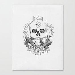 Skull and Birds Canvas Print