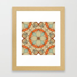 Tribal vintage mandala pattern Framed Art Print