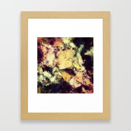 Crumbling sky Framed Art Print
