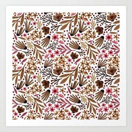 Floral Bunch - colorful Art Print
