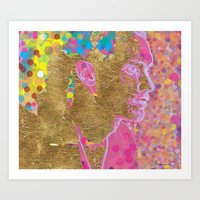Point Gold Plated Art Print