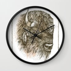 Portrait of a Buffalo Wall Clock