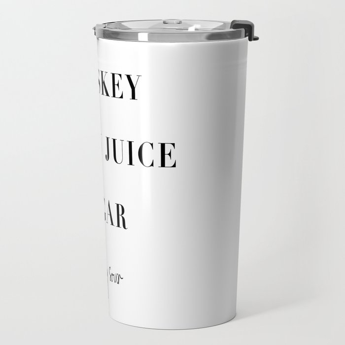 Whiskey Sour Ccktail Recipe Travel Mug