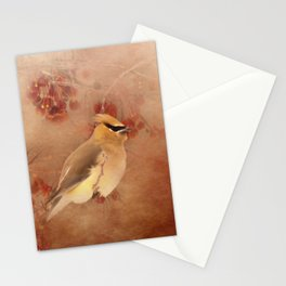 Waxwing Buffet Stationery Cards