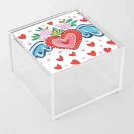 Valentine Heart with Wings Acrylic Box