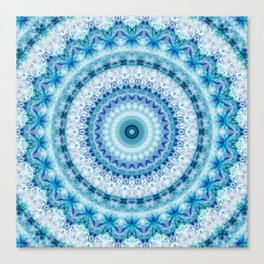 Bouncing Off Of Clouds Kaleidoscope Canvas Print