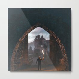 Portal to the Castle-Surreal Collage Metal Print