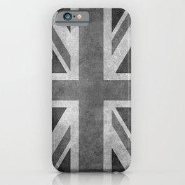 Union Jack Vintage 3:5 grayscale iPhone Case